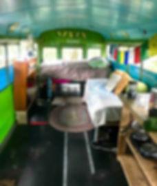 Inside the Celebration Bus