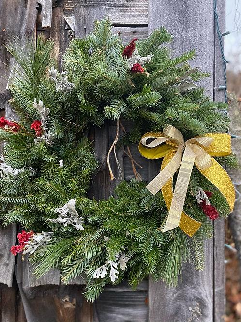 Decorated Organic Wreath