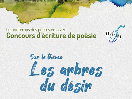 """CONCOURS POESIE 2021 """"LES ARBRES DU DESIR"""""""
