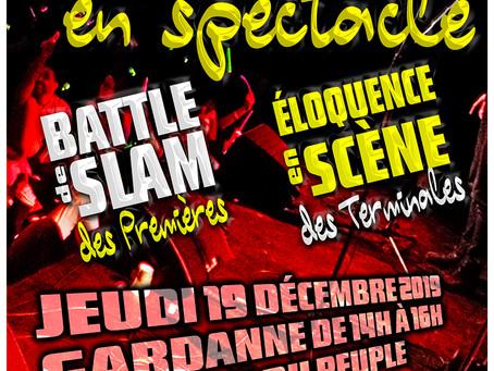 L'ELOQUENCE EN SCENE à GARDANNE  le 19 décembre à 14 Heures à la Maison du Peuple
