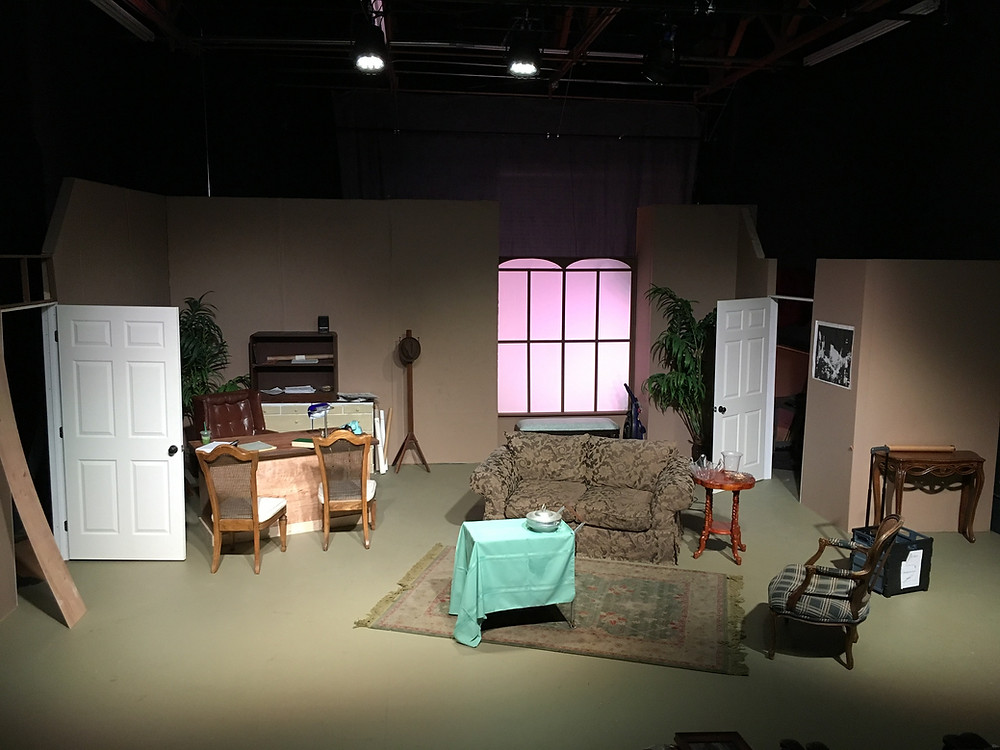 "The set of ""Moonlight & Magnolias"" at the Modjeska Playhouse."