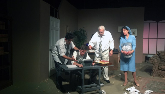 "An awesome review of our play, ""Moonlight & Magnolias"" in The Orange Curtain Review"