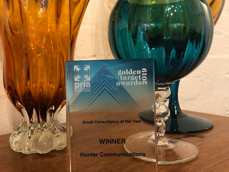 HUNTER TAKES HOME SMALL CONSULTANCY OF THE YEAR