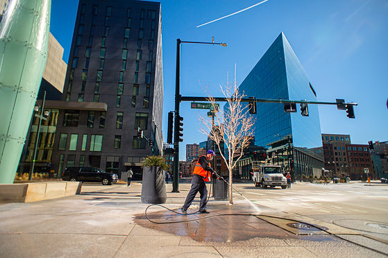 Spot washing in downtown Denver keeps wa