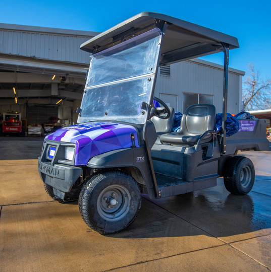 CSG commercial cleaning & maintenance golf cart