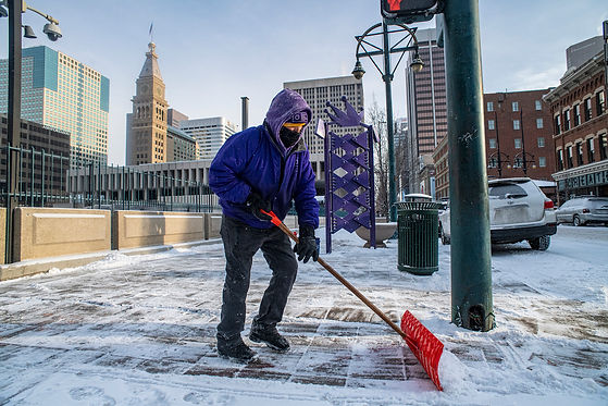 CSG provides snow shoveling to keep side