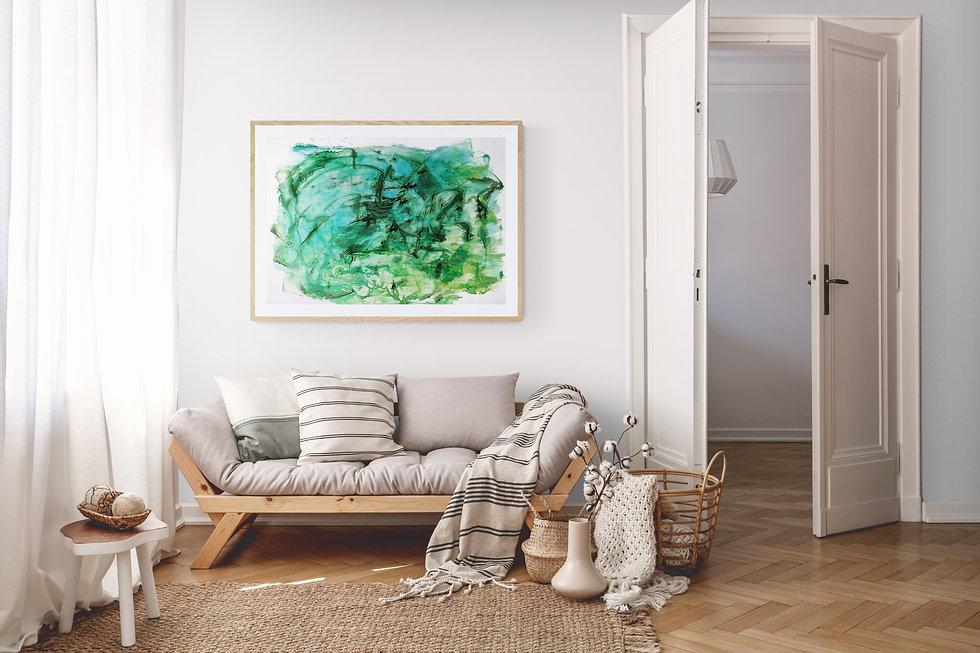 arte verde decorar