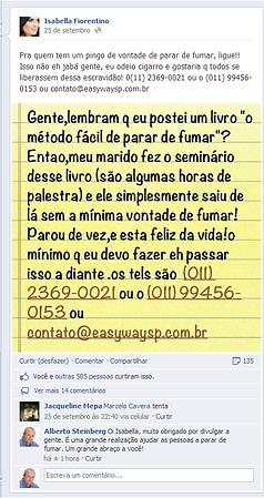 Marido da modelo Isabella Fiorentino parou de fumar com Allen Carr's Easyway São Paulo