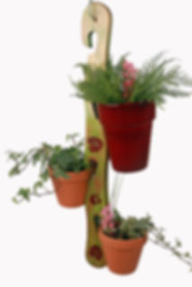 Handy Hobbits Wooden Plant Pot Holders handcrafted various designs and colours available