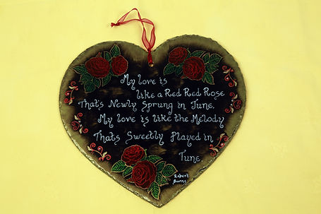 Handy Hobbits slate heart plaque