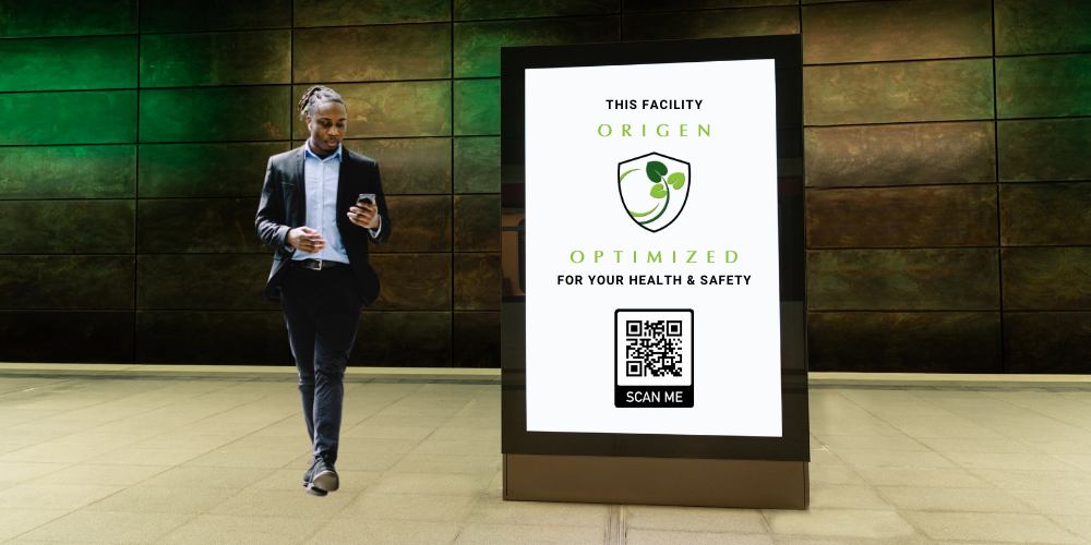 Origen optimized public sign for health & safety