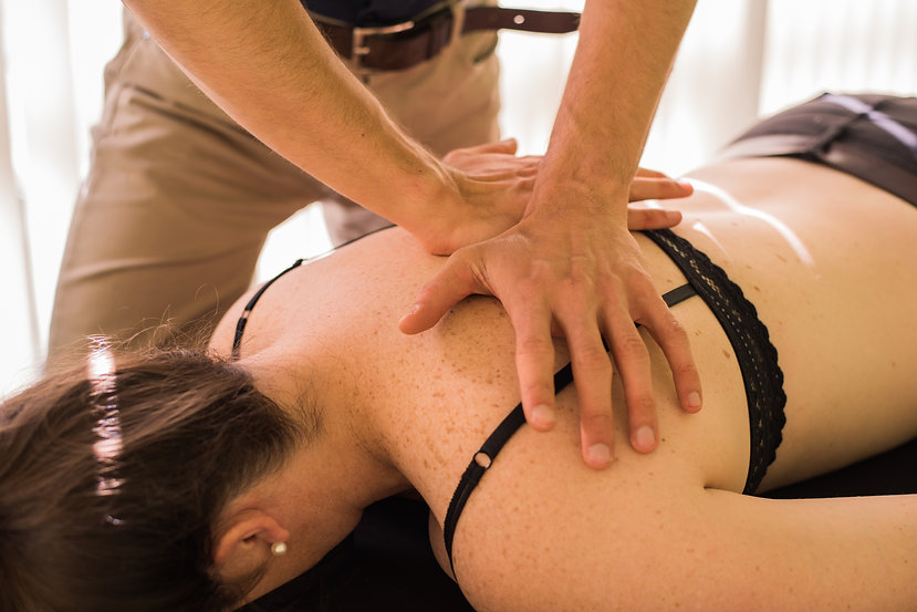Osteopathic technique on the Thoracic Spine
