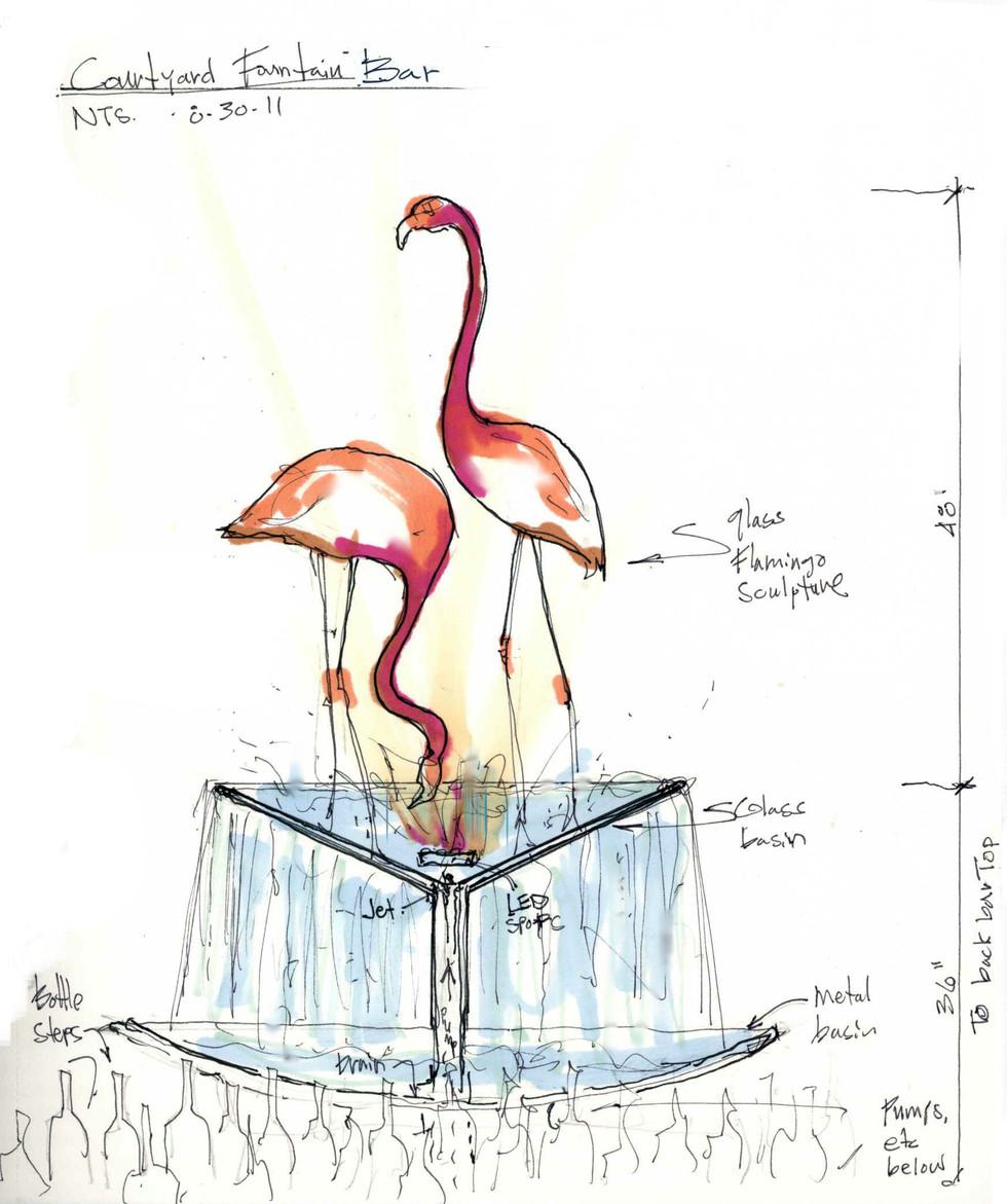 Glass Flamingo concept at Center Bar