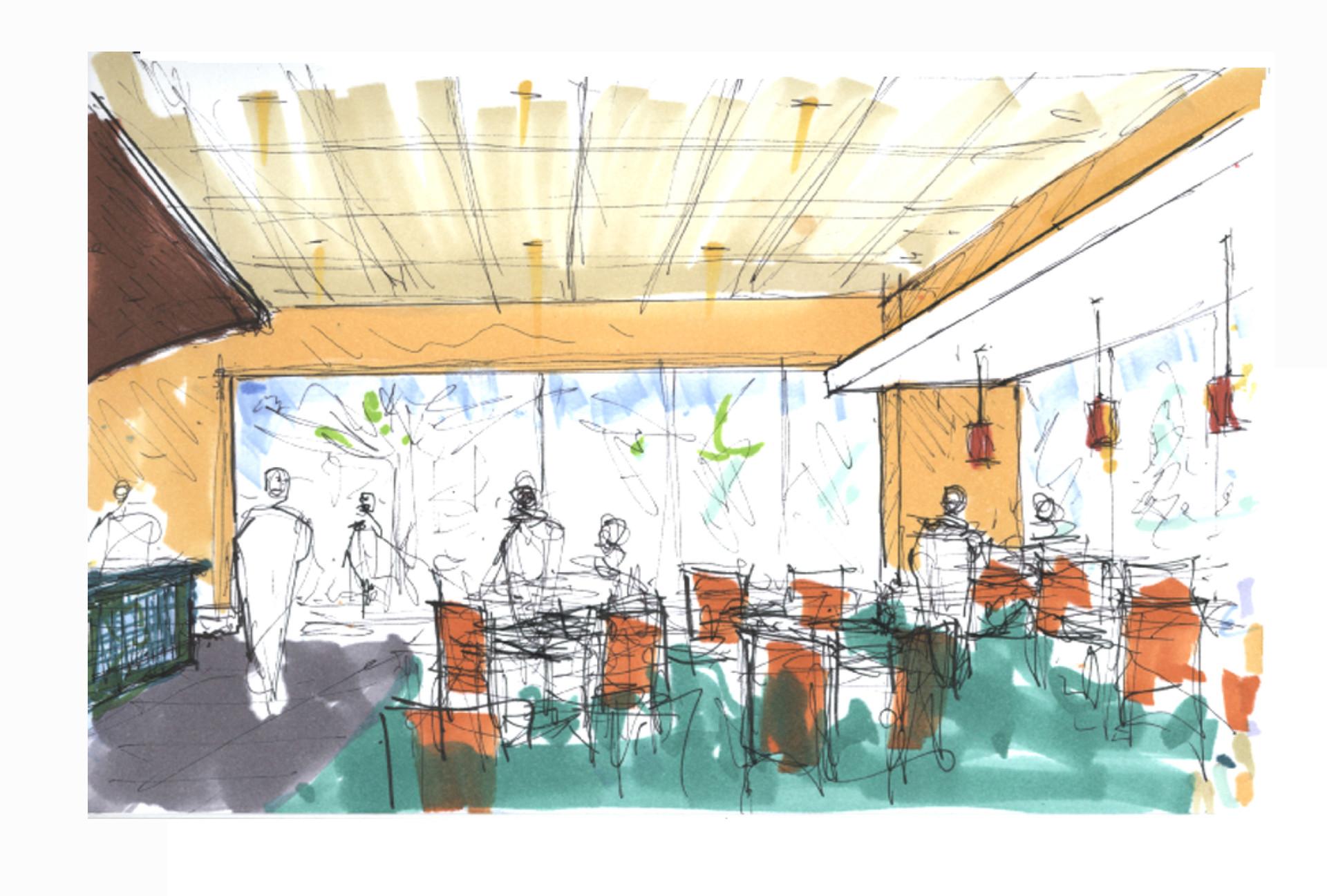Duncaster Cafe Sketch