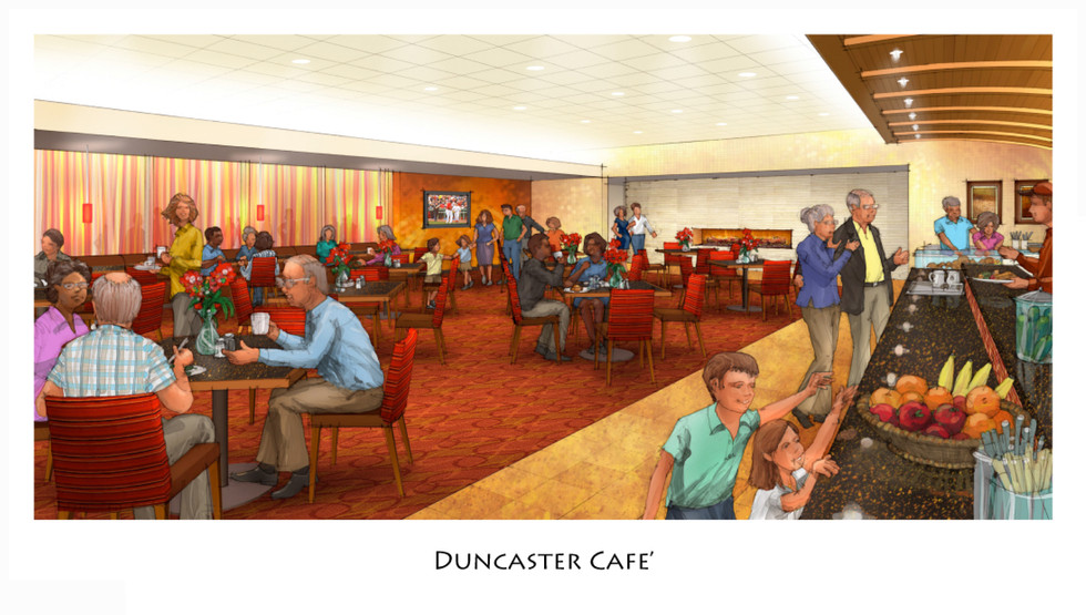Duncaster Cafe Rendering by Kurt Fromm