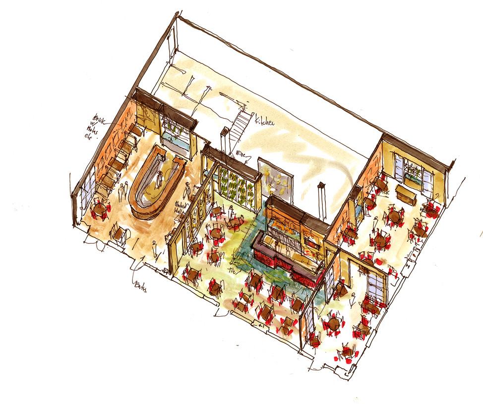 Axonometric study of the Interior