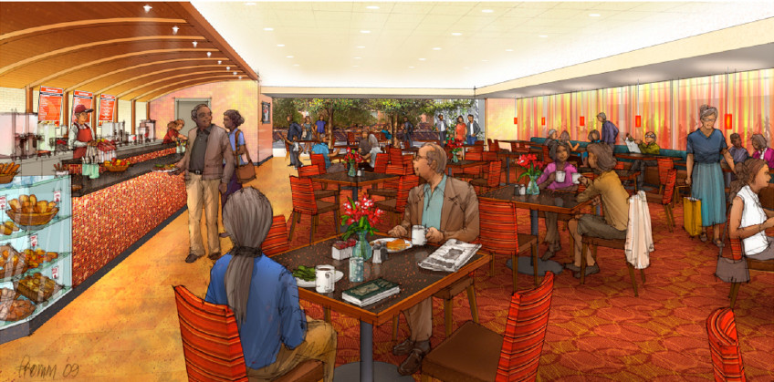 Duncaster Cafe Rendering 2  by Kurt Fromm