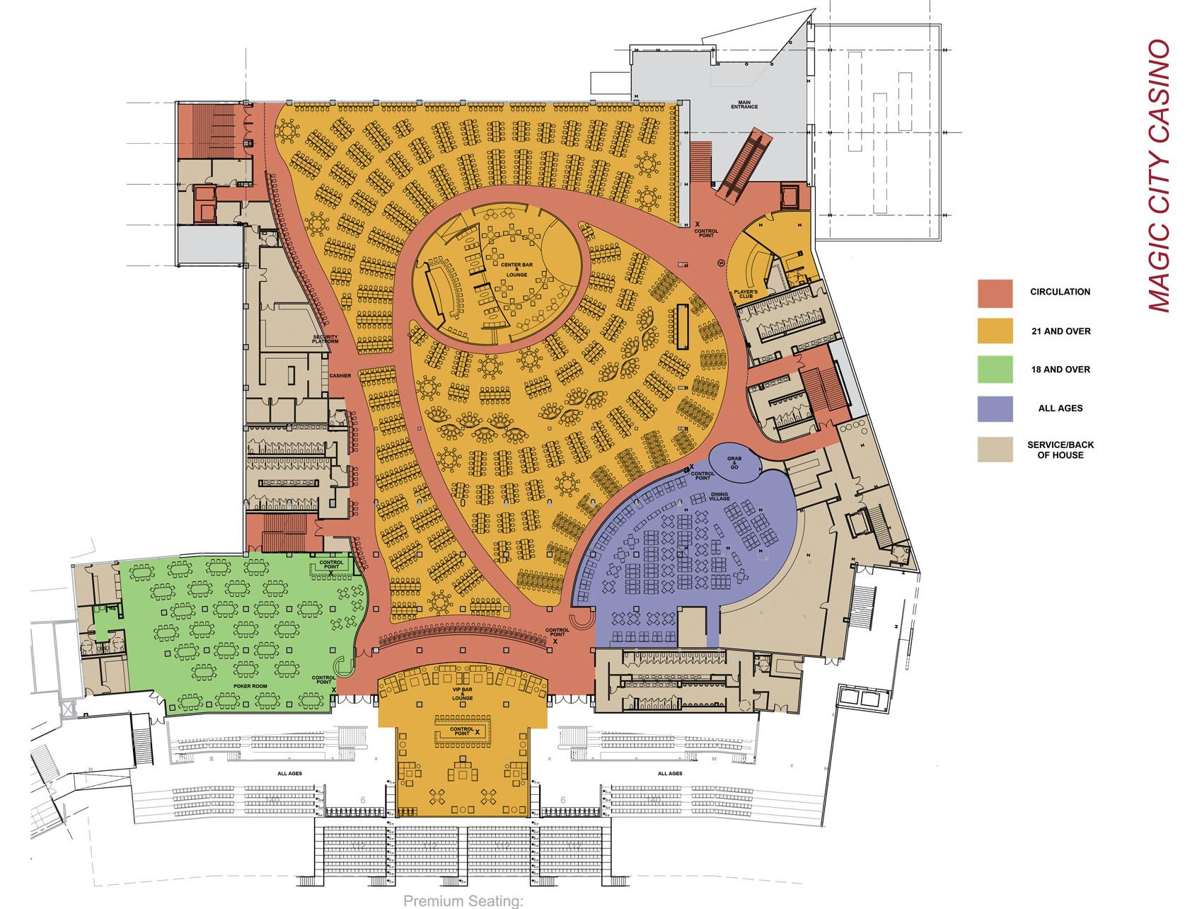 Magic City Casino - Floor Plan