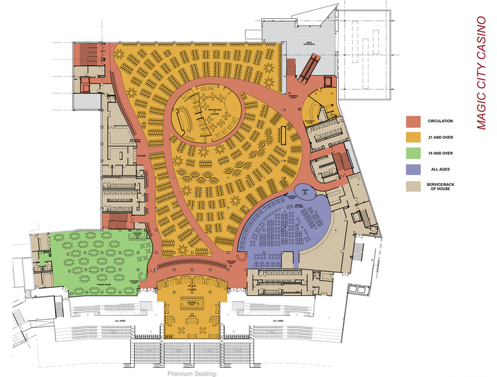Magic City Casino - Floor Plan