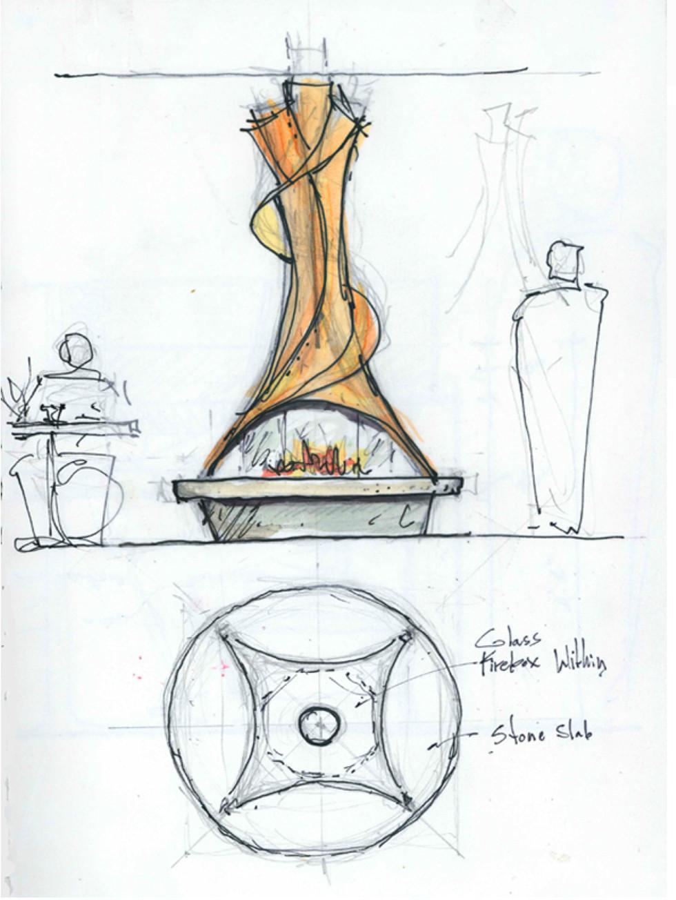 Free-standing Fireplace Study