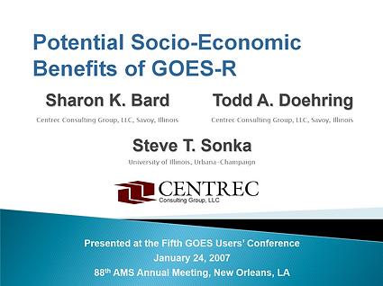 Presentation Summarizing GOES Economic Value