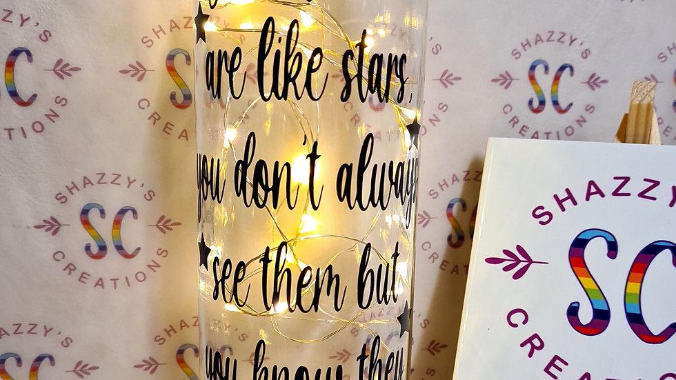 Good Friends Are Like Stars Bottle Light