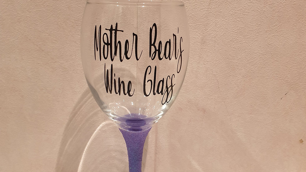 Personalised Quote Wine Glass