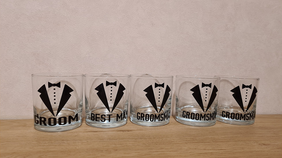 Wedding Party Mixer Glass