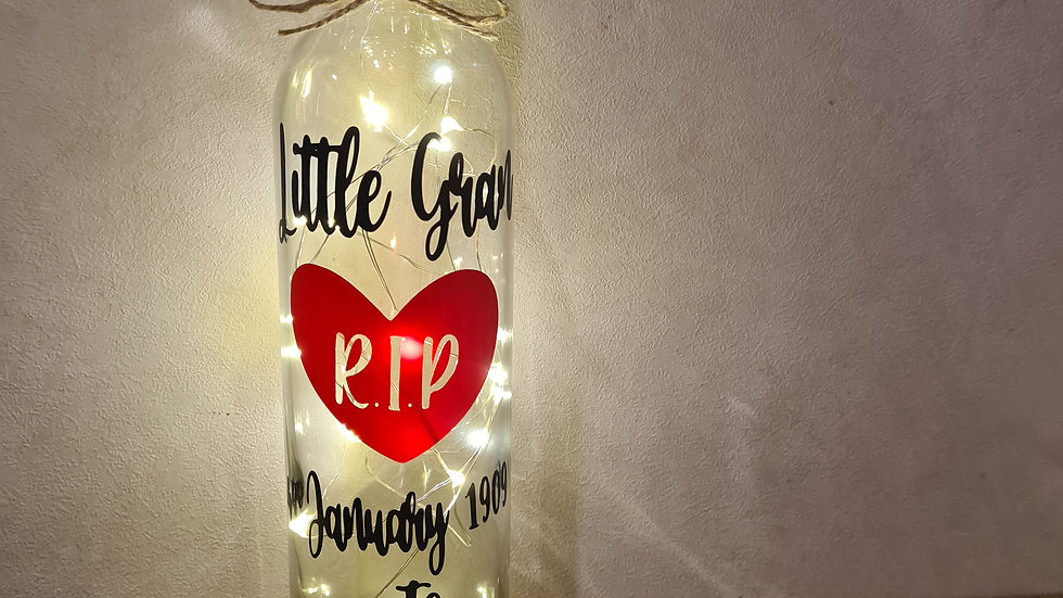 SALE Memorial Bottle Light