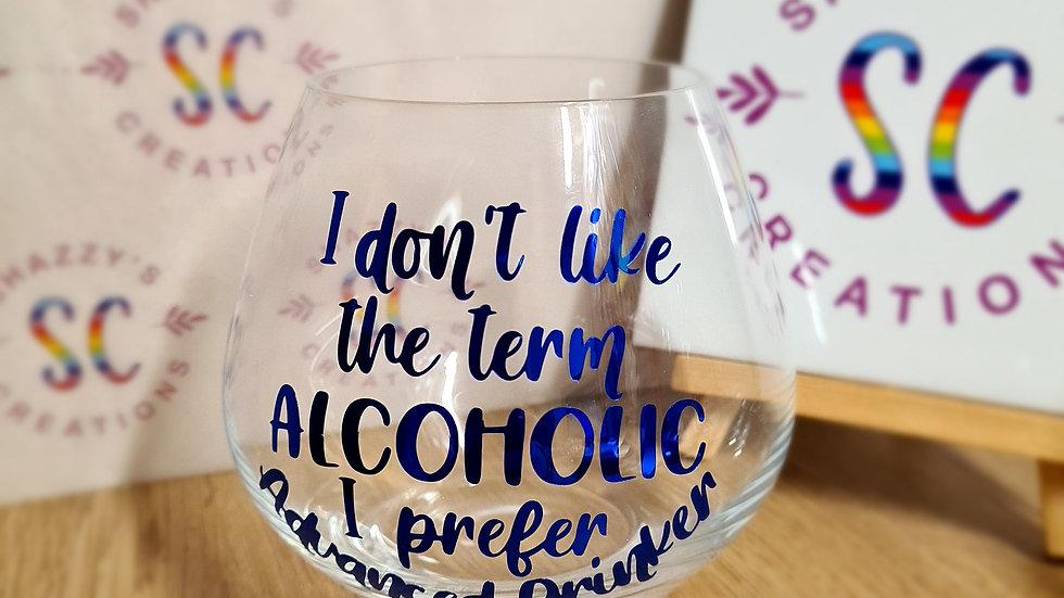 Advanced Drinker Stemless Gin Glass