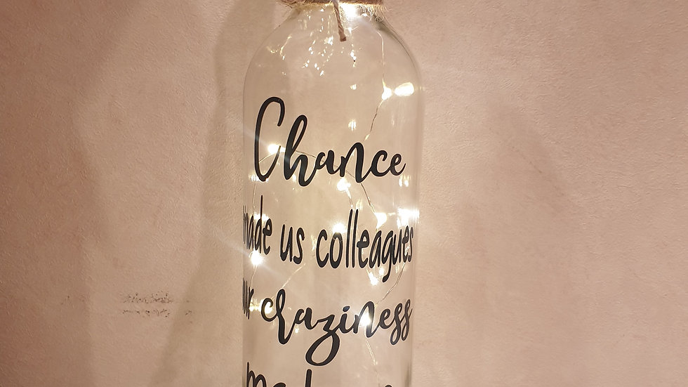 Chance Made Us Colleagues Bottle Light