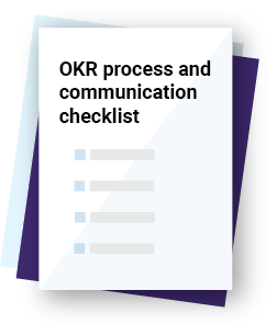 OKR Process and Communication template