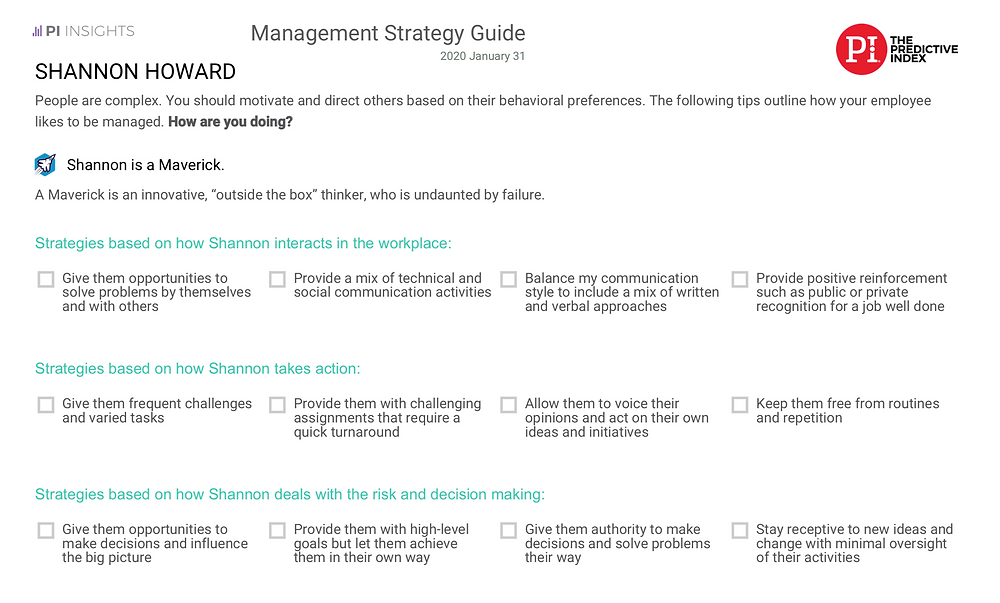 Management Strategy Guide