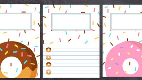 Editable Donuts and Sprinkles Binder Covers