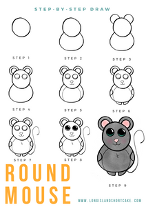 Step By Step Drawing: Round Mouse