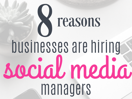 8 Reasons Businesses are Hiring Social Media Managers