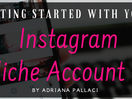 Getting Started With Your Instagram Niche Account: Part 1