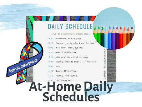 At-Home Schedules for Students with Special Needs