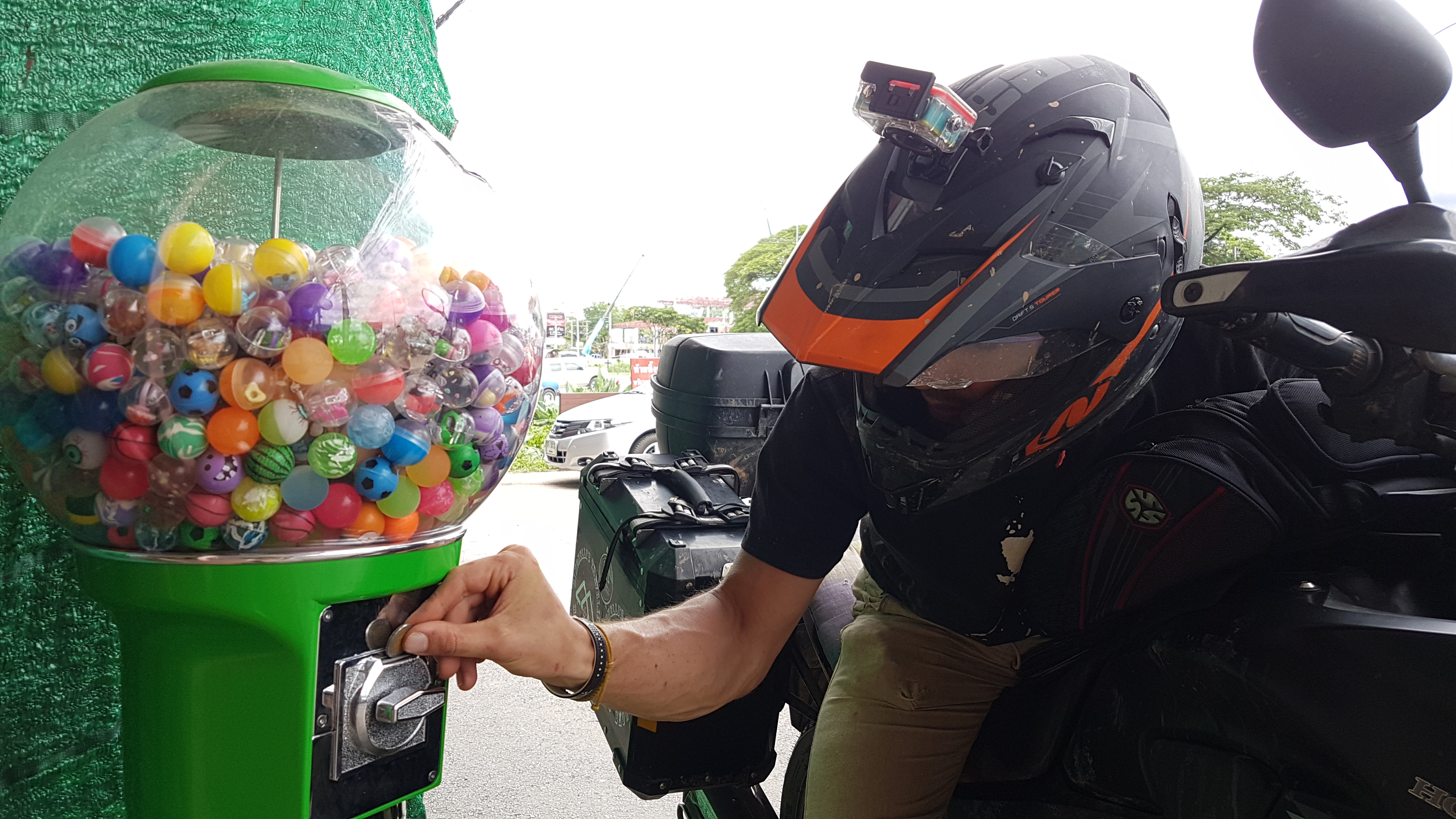 Bouncy balls and motorcycles