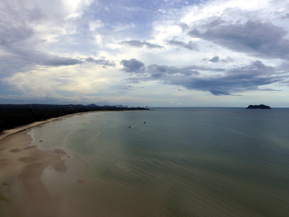 A drone image of Bo Mao Beachin Thailand. Photo: Isaac Stone Simonelli