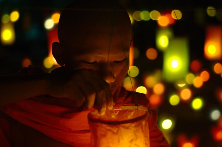 Day 143: Laos monks prepare for Festival of Lights