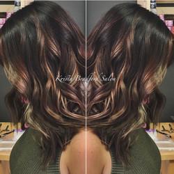 Lob Haircut & Balayage Color