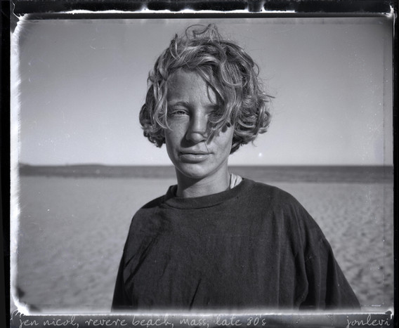 Jennifer Nicol in Revere Beach, early 90's