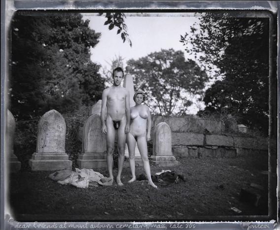 Jeff and Kim, Mt Auburn Cemetery, early 90's