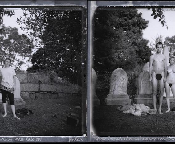 Jeff and Kim, Mt. Auburn Cemetery early 90's