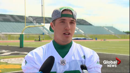 'I was just swinging a spaghetti noodle'; Roughriders kicker