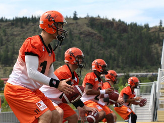 O'Connor and Deschamps attend the BC Lions Training Camp