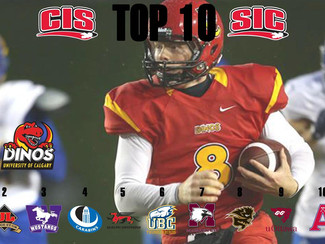 FRC – CIS Football Top 10 (#4): Dinos remain No. 1, Big Five keeps rolling