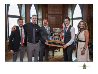 UBC Board of Governor and Founder of the 13th Man Foundation David Sidoo, his family and UBC Footbal