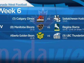 Canada West Football: Week 6 preview